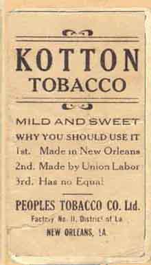 Kotton Tobacco - Bush - Back