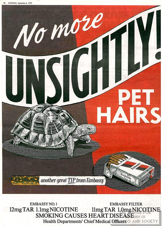 No More Unsightly Pet Hairs-Embassy ad 1992
