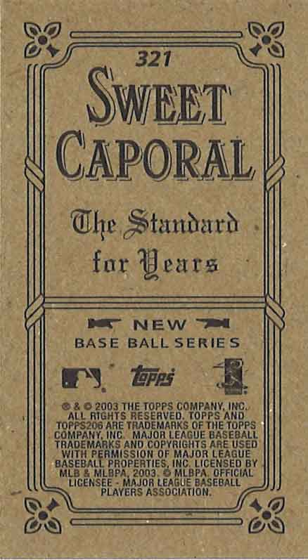 Sweet Caporal (Black) -Topps 206 -2003 (Back)