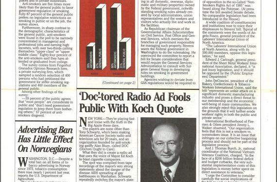 1986-01- Tobacco Observer - Doctored Radio Ad Fools Public