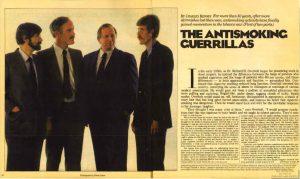 1986-05-11- Boston Globe Magazine - The Anit Smoking Guerrillas