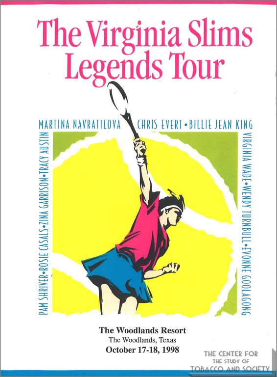 1998 - Poster - Virginia Slims Legends Tour