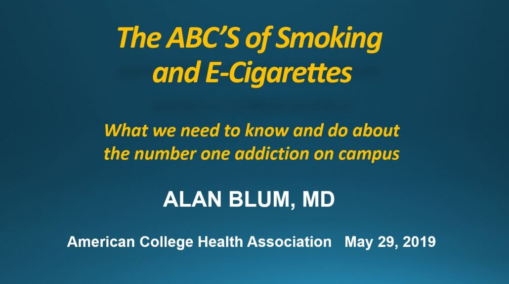 ABCs of Smoking and E-Cigarettes ACHA May 29 2019 - Styled