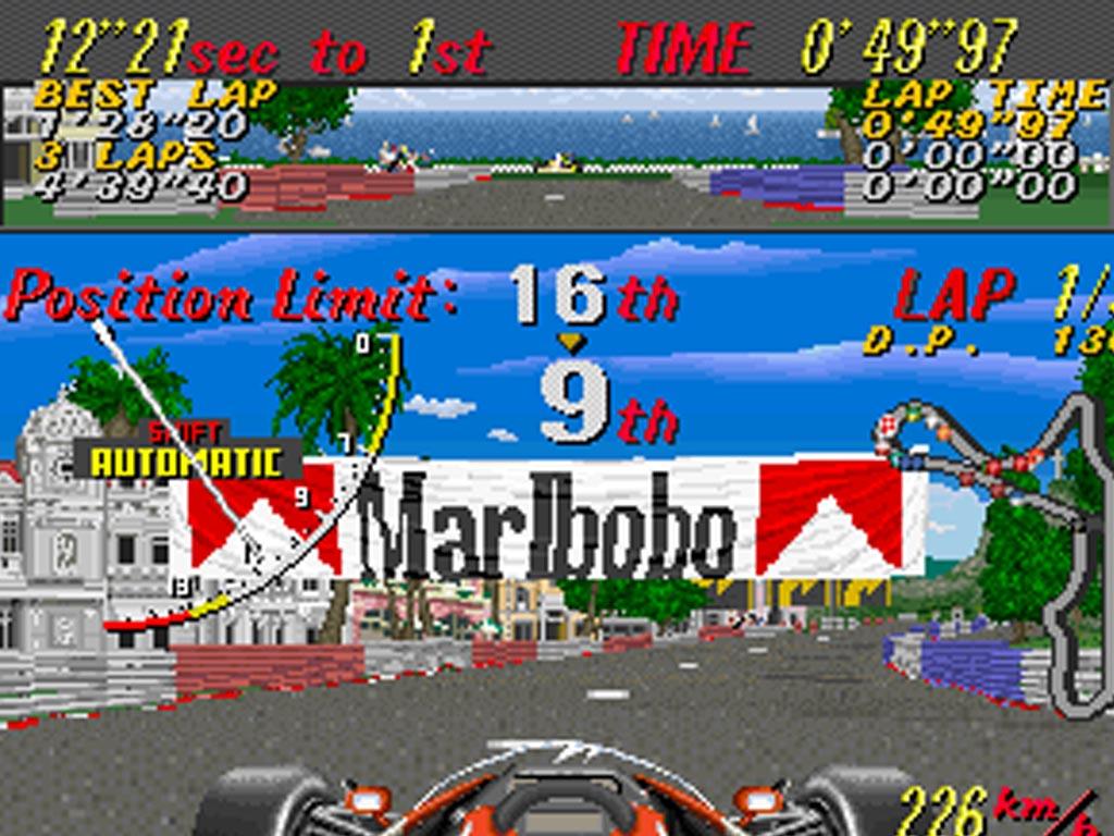 1990 - Super Monaco GP - Sega - Marlbobo Ad