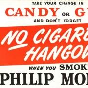 1940 - Advertisement - Philip Morris - Little Johnny - No Cigarette Hangover